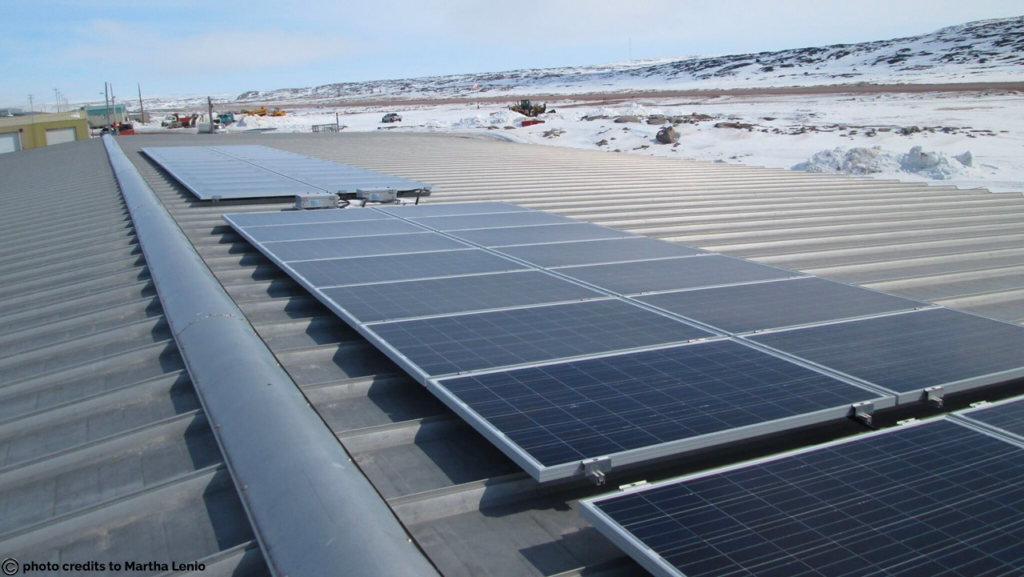 Solar PV installation that will help power the community freezer in Kugaaruk.